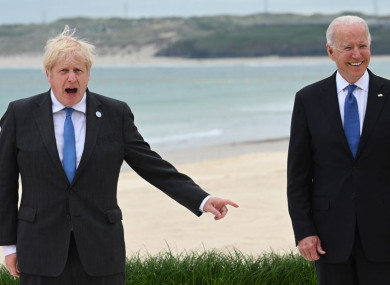 UK Prime Minister Boris Johnson and US President Joe Biden