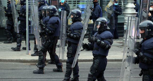 Gardaí restrict access to Dublin streets and arrest 10 people for public order incidents