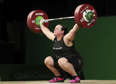 New Zealand's Laurel Hubbard during the 2018 Commonwealth Games.