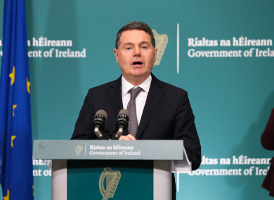 Finance Minister Paschal Donohoe (file photo)