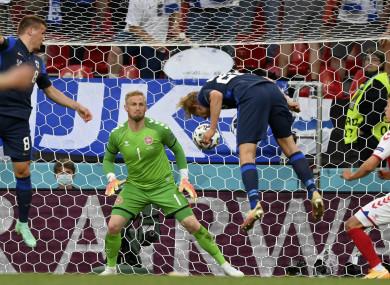 Finland's Joel Pohjanpalo scores the only goal.
