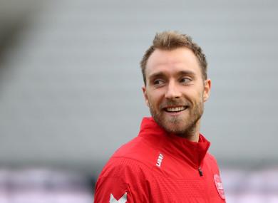 Denmark's Christian Eriksen.