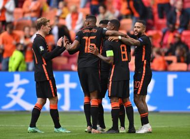 Netherlands celebrate.