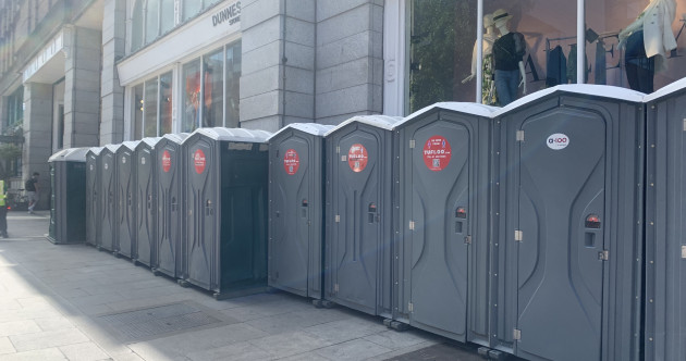 The extra bins and portable loos have arrived - but business owners in Dublin say long-term solution needed