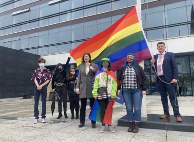 From L-R: Adam Pidgeon, Enya Eccleston, Tia Weldon, Éadaoin Walsh, Fina Eccleston, Debbie O'Rourke and Mayor of Waterford Damien Geoghegan.