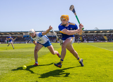 Waterford's Jack Fagan and Tipperary's Ronan Maher.