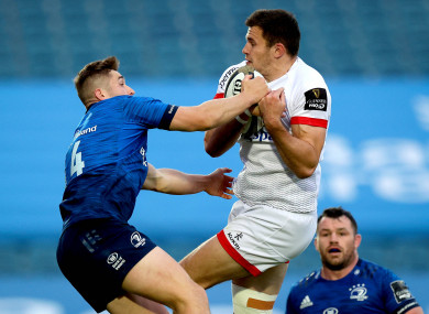 Ulster's Jacob Stockdale has a shoulder injury.