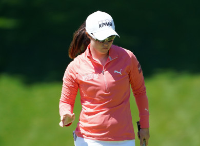 Leona Maguire in action at the Mediheal Championship.