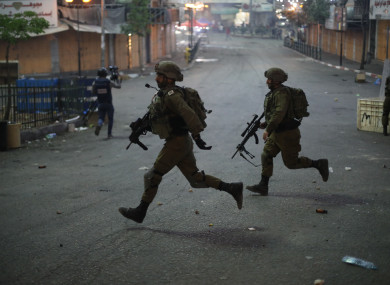 Israeli soldiers on an operation in the West Bank in May.