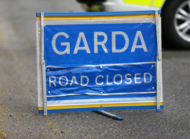 The road is closed and local diversions are in place. File photo.