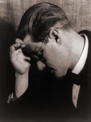 James Joyce (1882-1941) in a 1922 portrait.