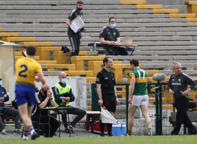 Tadhg Morley was sent-off last week.