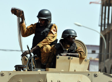 File photo of military police in Burkina Faso.