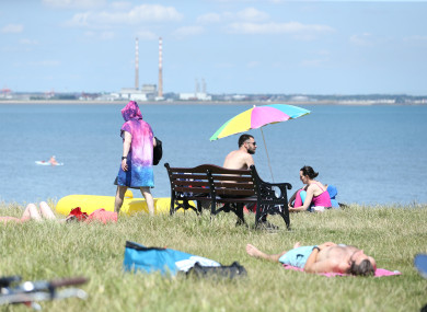 People enjoying the good weather at Sea Point/Blackrock