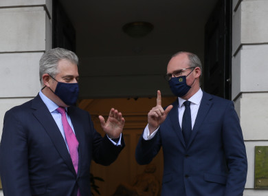 File photo - Northern Ireland Secretary Brandon Lewis with the Minister for Foreign Affairs Simon Coveney