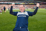 Davy Fitzgerald celebrates after Wexford's Leinster final victory in 2019.