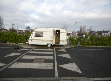 Traveller site at Balgaddy, Clondalkin, Co Dublin