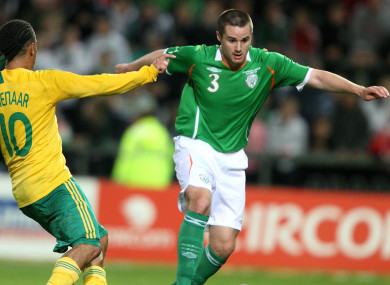 Eddie Nolan pictured while playing for Ireland during a 2009 friendly against South Africa at Thomond Park.