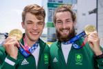 Ireland's gold medalists Fintan McCarthy and Paul O'Donovan.