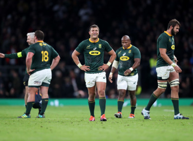 The Springboks' clash is off.