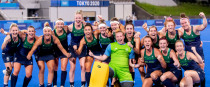 Ireland celebrate after their opening win.
