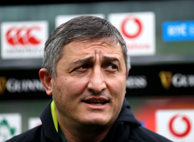 Levan Maisashvili fell ill after Georgia's first game in South Africa (file photo).