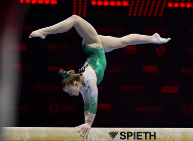 Megan Ryan at the 2021 European Gymnastics Championships.