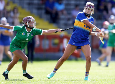 Tipperary's Orla O'Dwyer and Roisin Ambrose of Limerick.