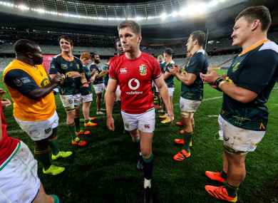 Owen Farrell and the Lions are clapped off.