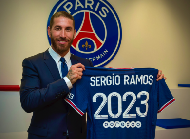Sergio Ramos is officially a PSG player.