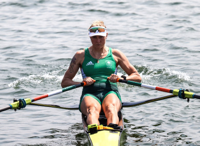While you were sleeping: The two-time world champion comfortably won her heat.