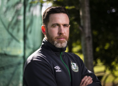 Stephen Bradley pictured at a pre-match media event.