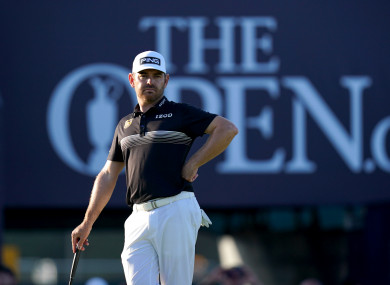 South Africa's Louis Oosthuizen on the 18th green during day two of The Open at The Royal St George's Golf Club.