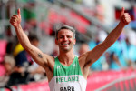 Thomas Barr finished second in his heat.