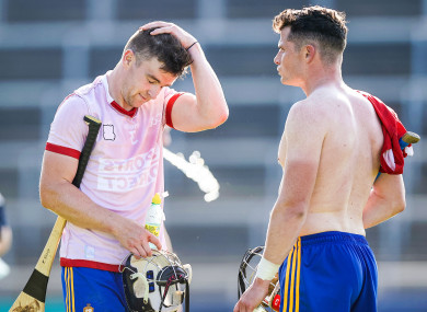 A dejected Tony Kelly after Saturday's game with team-mate Paul Flanagan.