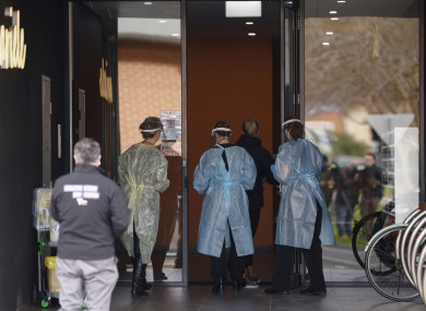 An apartment building in Melbourne's north-west has been placed in lockdown