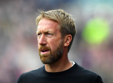 Brighton and Hove Albion manager Graham Potter (file pic).
