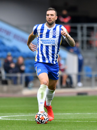 Brighton and Hove Albion's Shane Duffy during the Premier League match at Turf Moor.