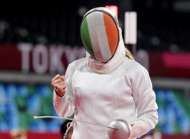 Natalya Coyle celebrating a win in Tokyo.