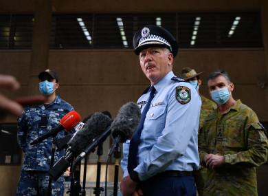 NSW Police Commissioner Michael Fuller speaks during a press conference at Surry Hills Police Station in Sydney