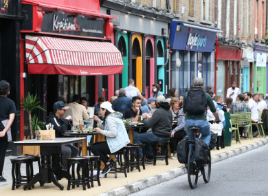 Outdoor dining on Capel Street