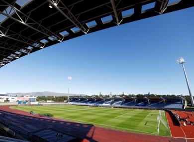 Laugardalsvöllur, the Iceland national stadium.