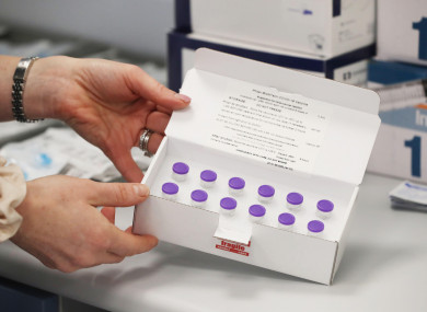 Vials of the BioNTech/Pfizer Covid-19 vaccine at Waterford Primary Care Centre.