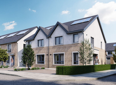 The planned homes at Walker's Gate, in a CGI rendering
