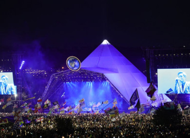 File photo of Glastonbury Festival.
