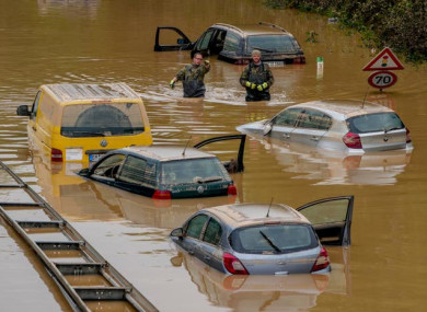 Heavy flooding in Germany earlier this year