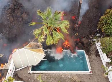 Lava in La Palma