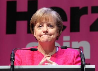 Outgoing Chancellor Angela Merkel