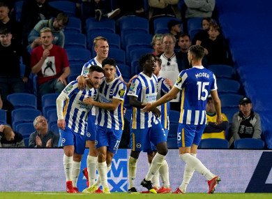Connolly's two goals were the difference in Brighton's win over Swansea.