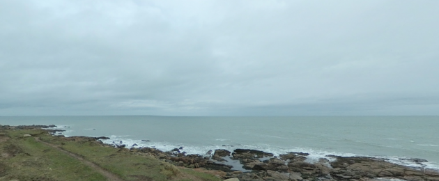 View at Carnsore Point in Wexford.